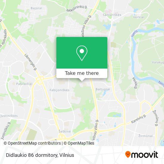 Didlaukio 86 dormitory map