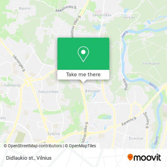 Didlaukio st. map