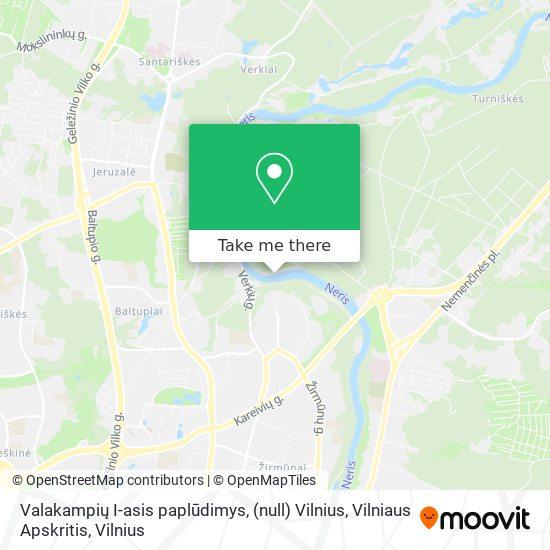 Valakampių I-asis paplūdimys, (null) Vilnius, Vilniaus Apskritis map