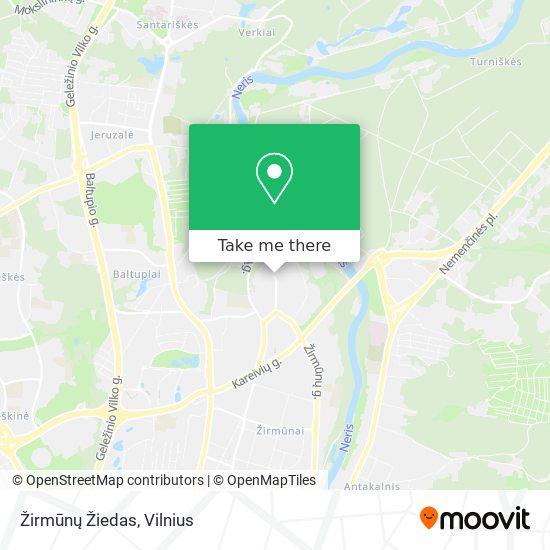 Žirmūnų Žiedas map
