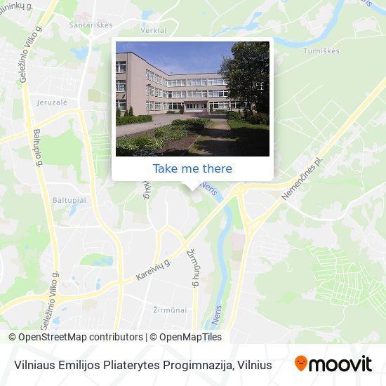 Vilniaus Emilijos Pliaterytes Progimnazija map
