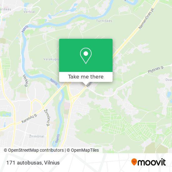 171 autobusas map
