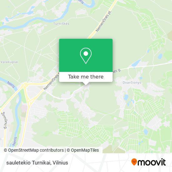 sauletekio Turnikai map