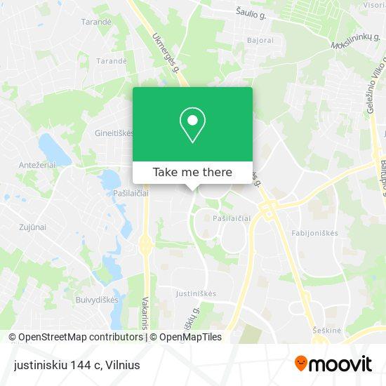 justiniskiu 144 c map