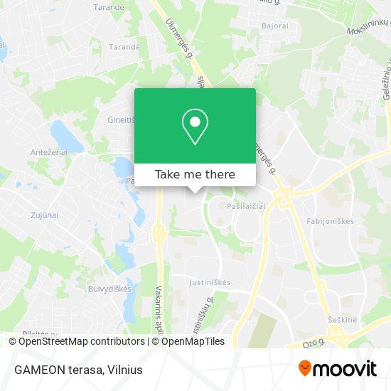 GAMEON terasa map