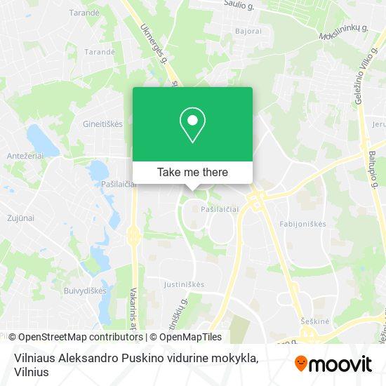 Vilniaus Aleksandro Puskino vidurine mokykla map