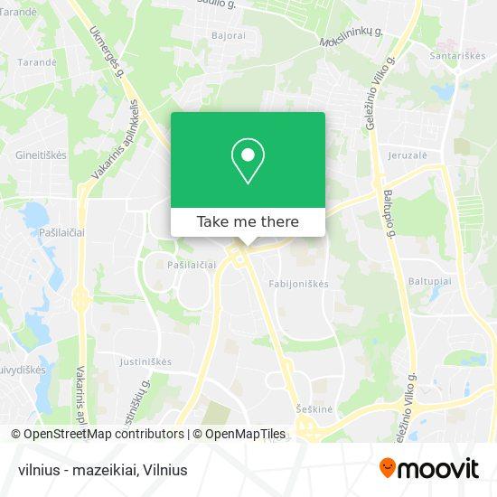 vilnius - mazeikiai map