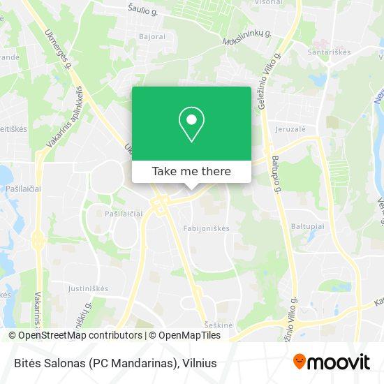 Bitės Salonas (PC Mandarinas) map