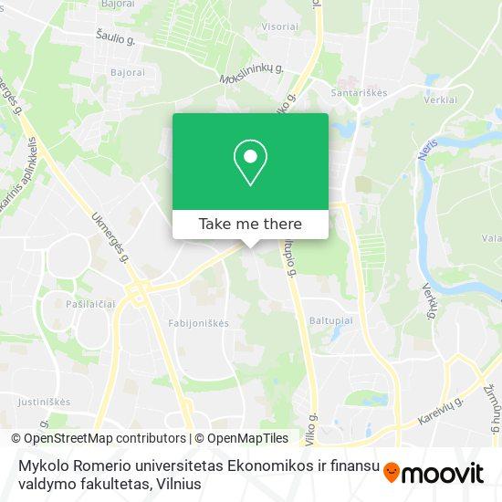 Mykolo Romerio universitetas Ekonomikos ir finansu valdymo fakultetas map