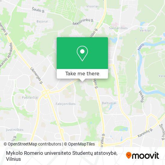 Mykolo Romerio universiteto Studentų atstovybė map