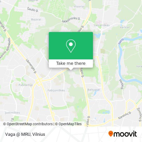 Vaga @ MRU map