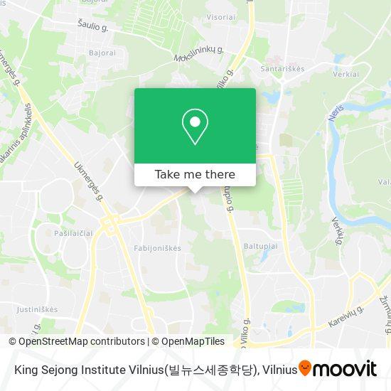 King Sejong Institute Vilnius(빌뉴스세종학당) map