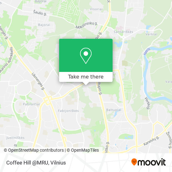 Coffee Hill @MRU map