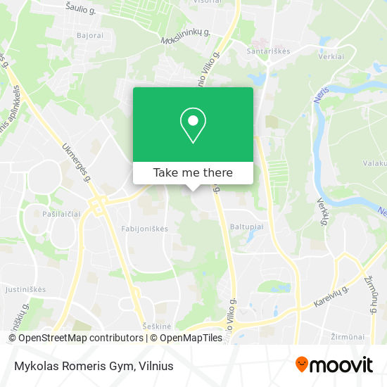 Mykolas Romeris Gym map