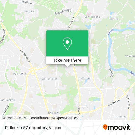 Didlaukio 57 dormitory map