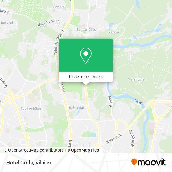 Hotel Goda map