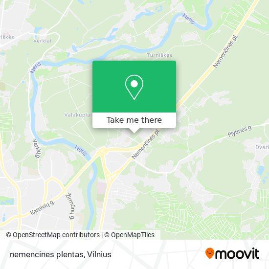 nemencines plentas map