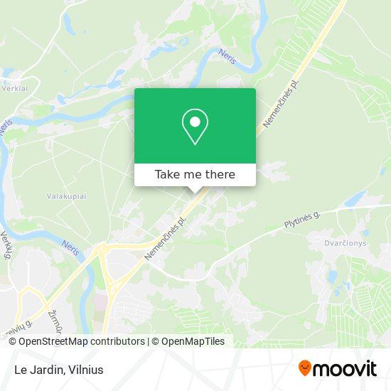 Le Jardin map