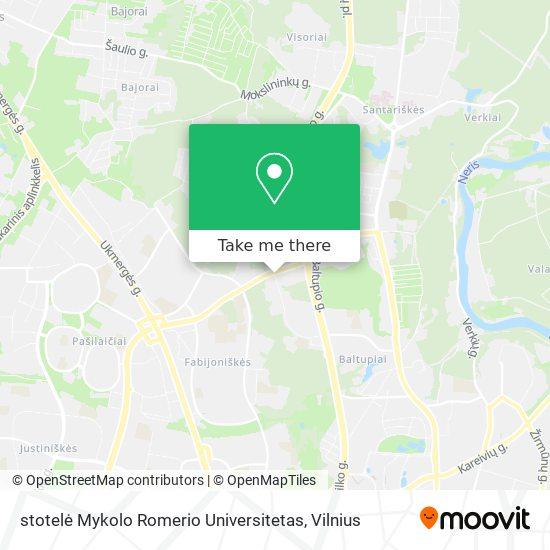 stotelė Mykolo Romerio Universitetas map