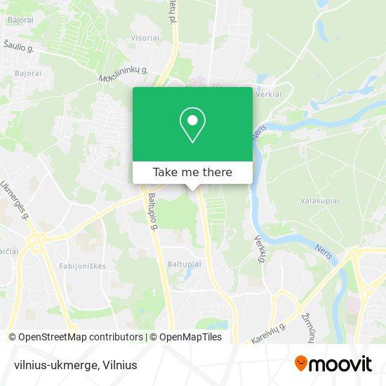 vilnius-ukmerge map
