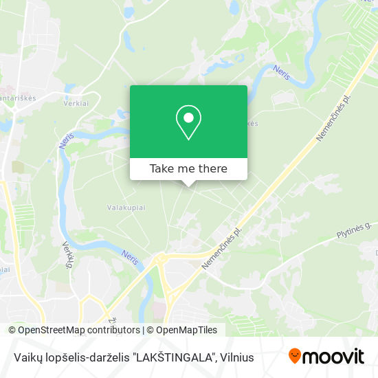 """Vaikų lopšelis-darželis """"LAKŠTINGALA"""" map"""