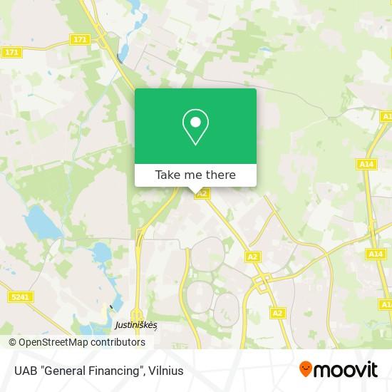 "UAB ""General Financing"" map"