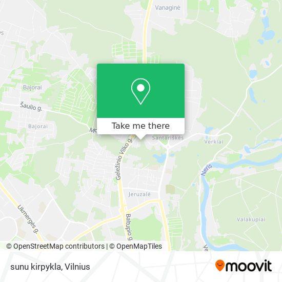 sunu kirpykla map