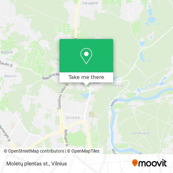 Molėtų plentas st. map
