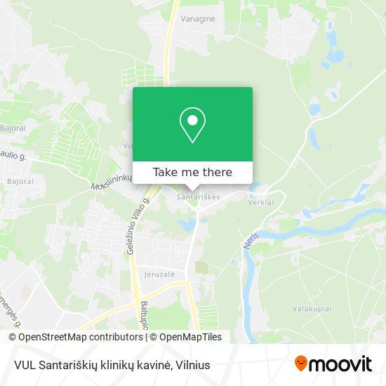 VUL Santariškių klinikų kavinė map