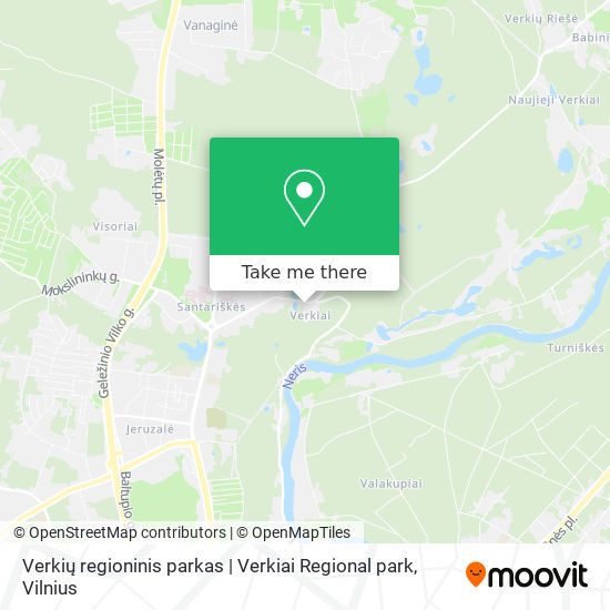 Verkių regioninis parkas | Verkiai Regional park map