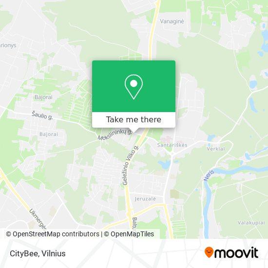 CityBee map