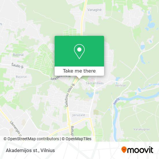 Akademijos st. map