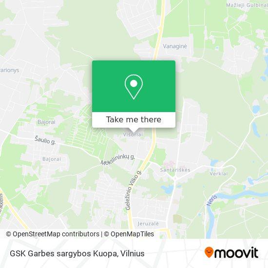 GSK Garbes sargybos Kuopa map