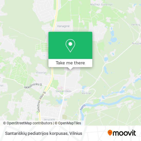 Santariškių pediatrijos korpusas map