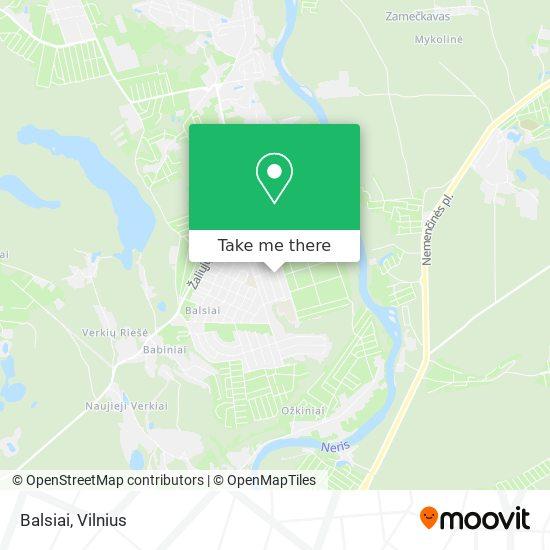 Карта Balsiai