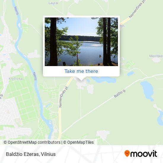 Baldžio Ežeras map