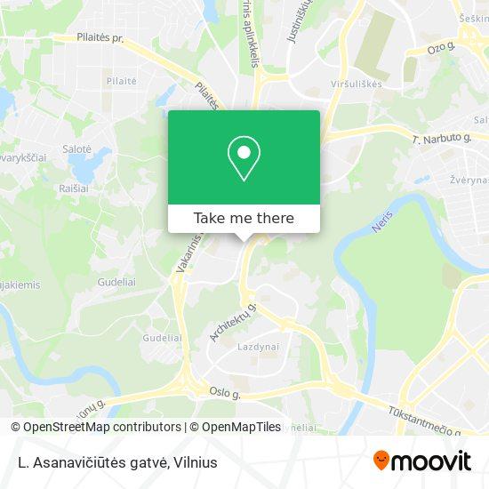 L. Asanavičiūtės gatvė map
