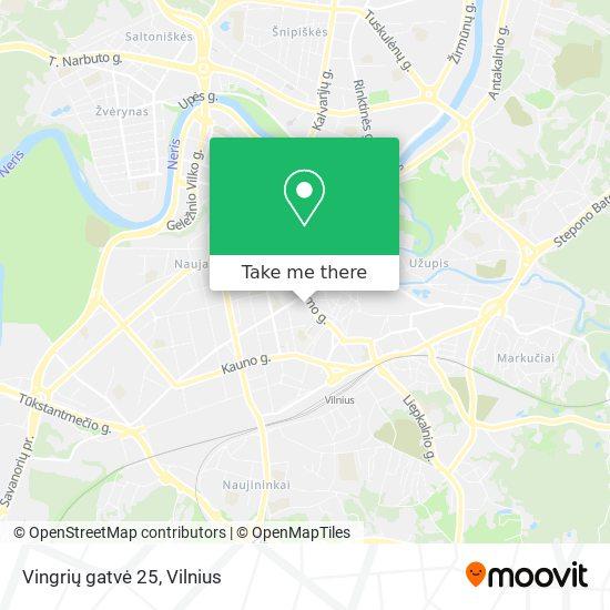 Vingrių gatvė 25 map