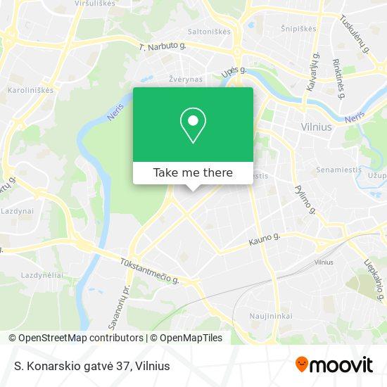 S. Konarskio gatvė 37 map
