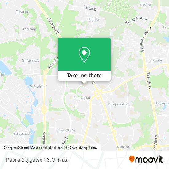 Pašilaičių gatvė 13 map