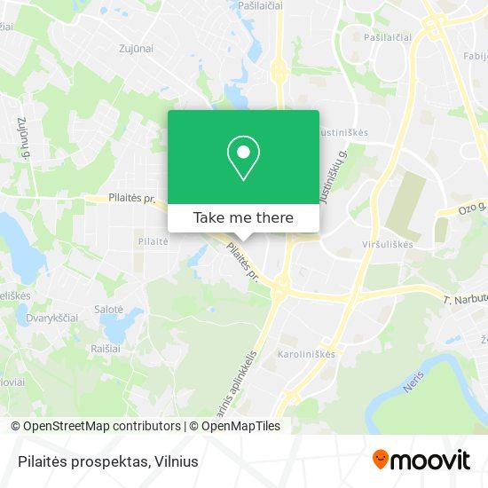 Pilaitės prospektas map