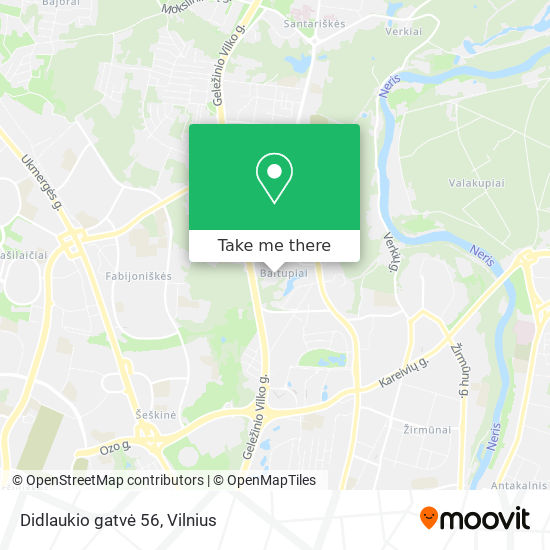Didlaukio gatvė 56 map