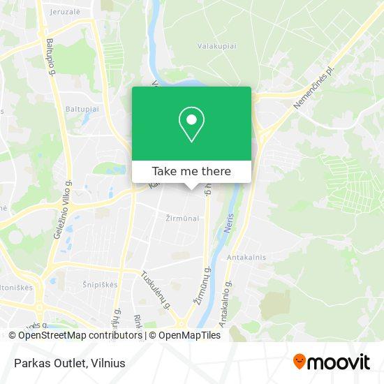 Parkas Outlet map