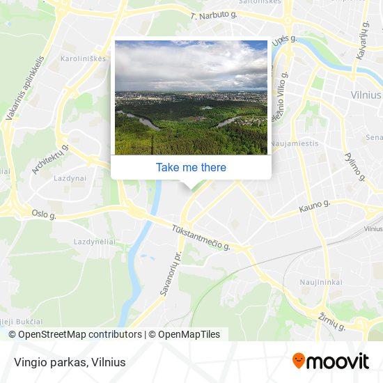 Vingio parkas map