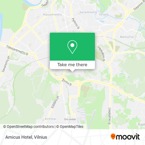 Amicus Hotel map