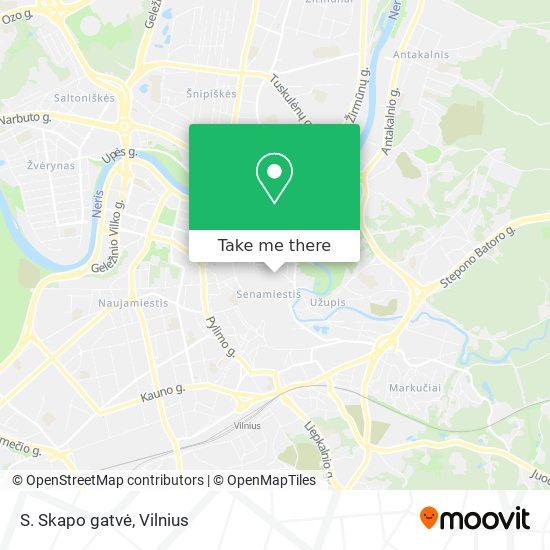 S. Skapo gatvė map
