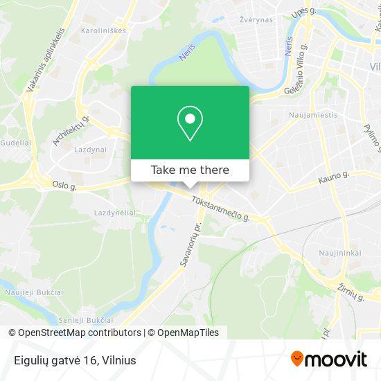 Eigulių gatvė 16 map