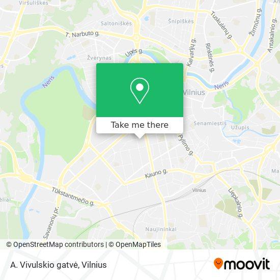 A. Vivulskio gatvė map