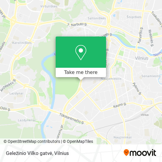 Geležinio Vilko gatvė map