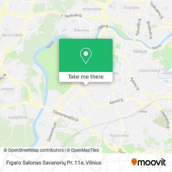 Figaro Salonas Savanorių Pr. 11e map